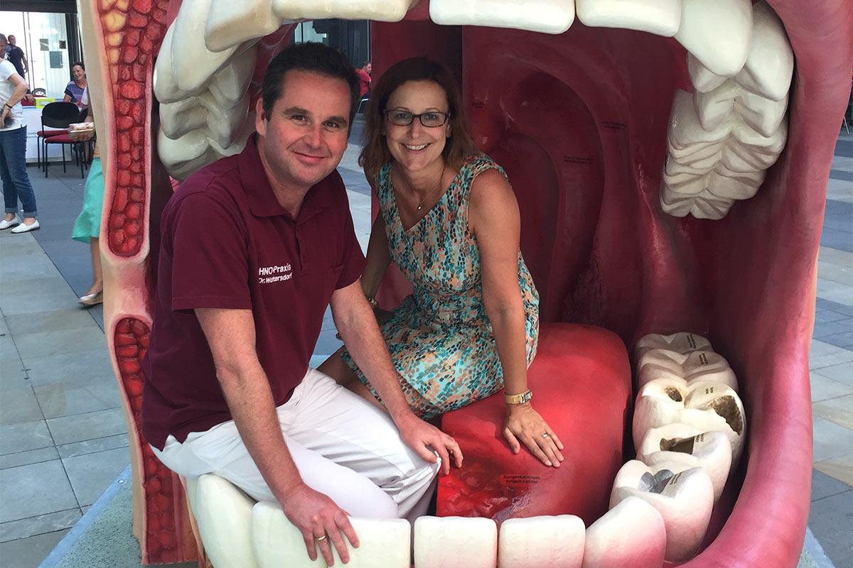 Dr. med. Wieland Woltersdorf & Dr. med. Antje Hönicke . Tag der Zahngesundheit 15.09.2016 . Bürgerhalle Moritzhof Chemnitz