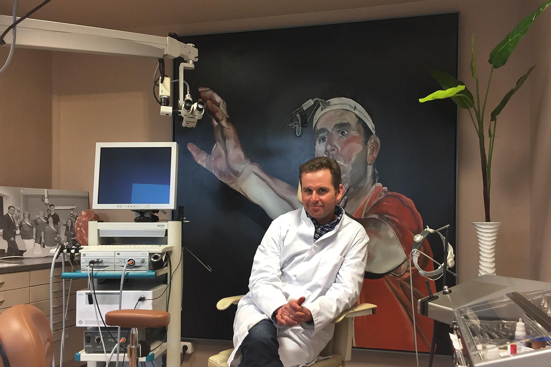 Malerei von Stephan Hoehne in der HNO-Praxis Dr. Woltersdorf