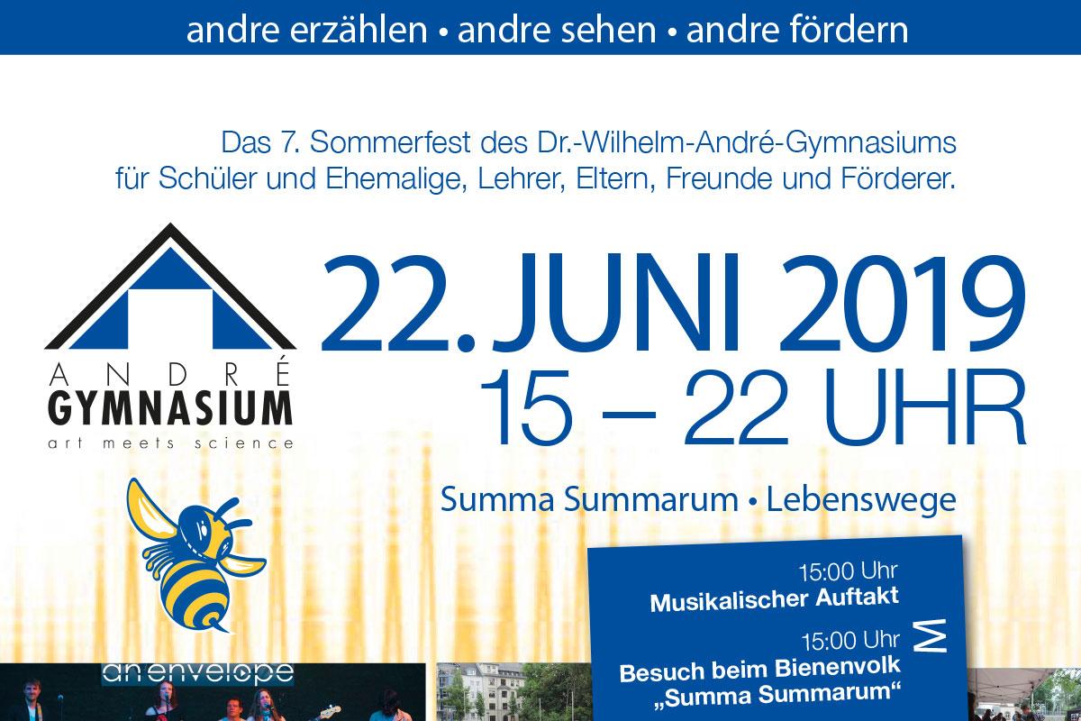 Plakat zum Treffen des Dr.-Wilhelm-André-Gymnasiums Chemnitz (22.06.2019)