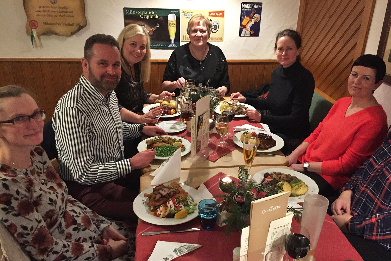 Weihnachtsfeier des Teams der HNO-Praxis Dr. Woltersdorf im Haus des Gastes Chemnitz