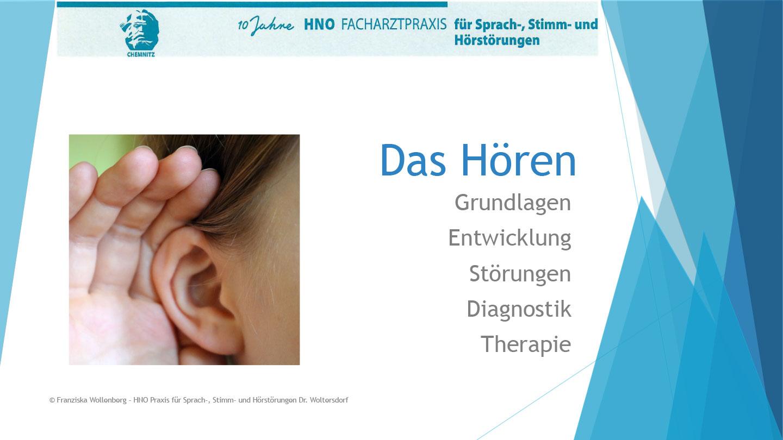 Das Hören . AVWS-Fachvortrag . Franziska Wollenberg