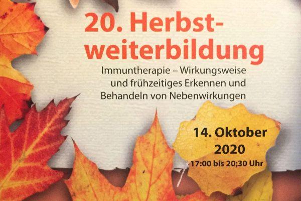 <i>14.10.2020</i> 20. Herbstweiterbildung in der HNO-Klinik Stollberg