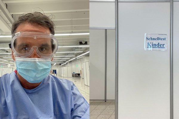 """Corona-Testzentrum in Chemnitz vertraut auf die Expertise eines erfahrenen """"Kinder-HNO-Arztes"""""""