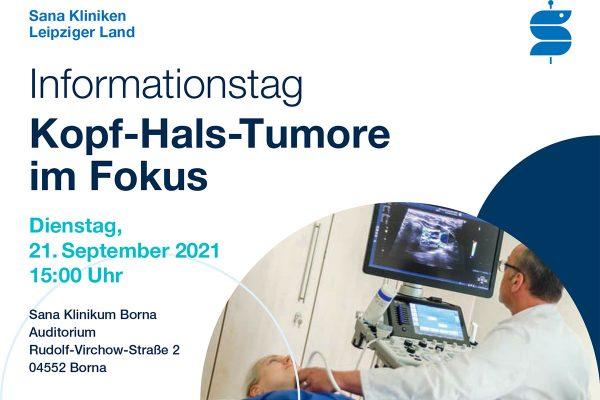 <i>21.09.2021</i> Informationstag Kopf-Hals-Tumore im Fokus
