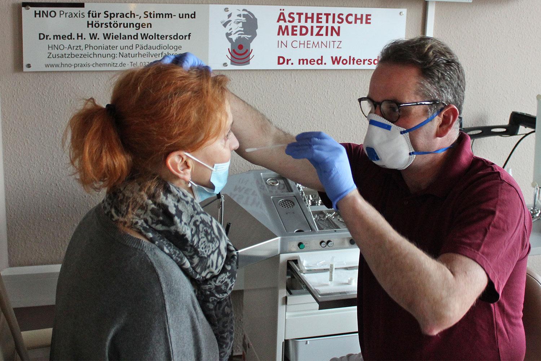 Abstrich . Dr. med. Wieland Woltersdorf . HNO-Praxis Chemnitz
