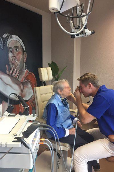 Nasenendoskopie durch Cand. med. Max Lange
