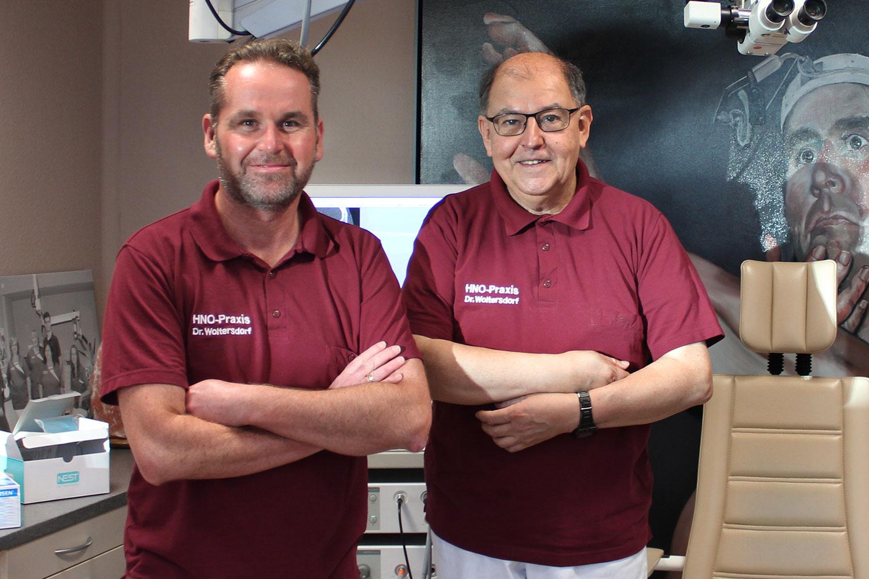 Dr. Wieland Woltersdorf und Edgardo Roque Fignone . HNO Praxis Chemnitz
