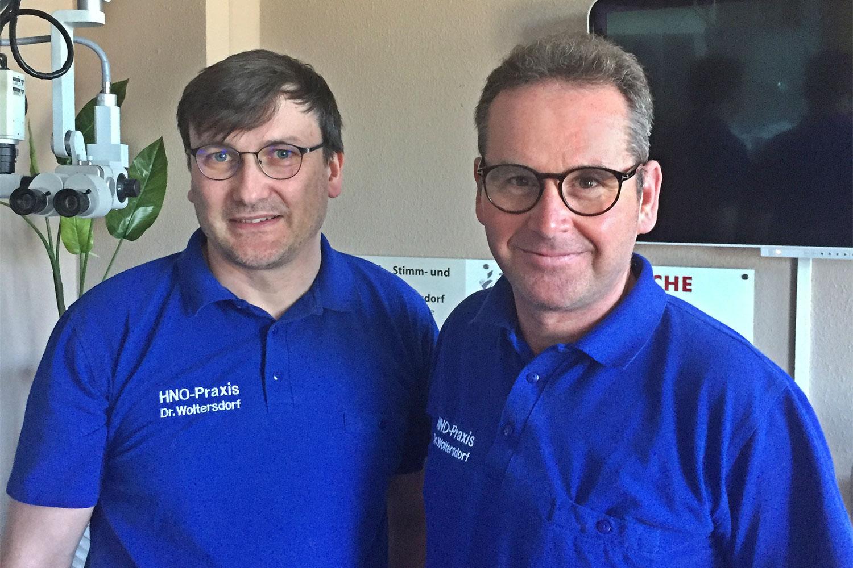 Mike Körner und Dr. Wieland Woltersdorf . HNO Praxis Chemnitz