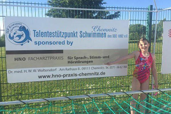 Sponsoring des Talentestützpunktes Schwimmen Chemnitz des SCC 1892